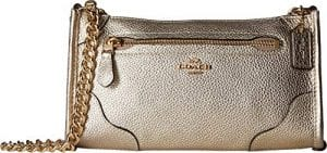Read more about the article COACH Women's Grain Leather Mickie Crossbody Champagne One Size
